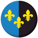 Monmouthshire County Flag 25mm Button Badge